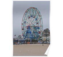 The Wonder Wheel, Coney Island Board Walk Poster