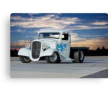 1936 Chevrolet Flatbed Pickup Canvas Print