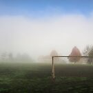 Goal posts in the mist by Robyn Lakeman