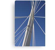Abstract Bridge Lines, Winnipeg, Manitoba, Canada  Canvas Print