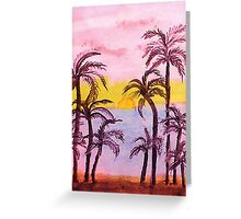 Sunrise on the East Coast, watercolor Greeting Card