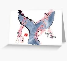 Happy Flukes (at Sunset) Greeting Card