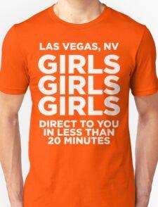 LAS VEGAS TEE - GIRLS GIRLS GIRLS  T-Shirt