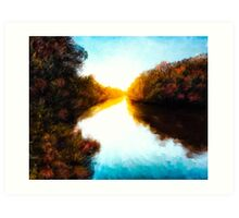 Daydreams  - Autumn Landscape - Abstract Impressionism Art Print