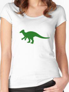 Iguanadon Dinosaur Women's Fitted Scoop T-Shirt