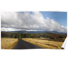 Tasmanian country road to Loongana Poster