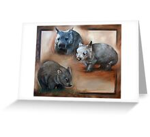 """Wombat Montage - The Three Species"" Greeting Card"