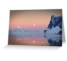 Moonrise in the Lemaire Channel, Antarctic Greeting Card