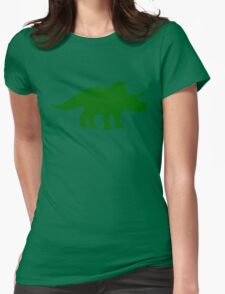 Triceratops Dinosaur Womens Fitted T-Shirt