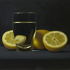 Lemons with Glass of Water by Paul Coventry-Brown