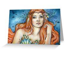 Mermaid Fairy Fantasy Art by Janna Prosvirina Greeting Card