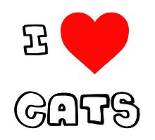 I Heart Cats by PingusTees