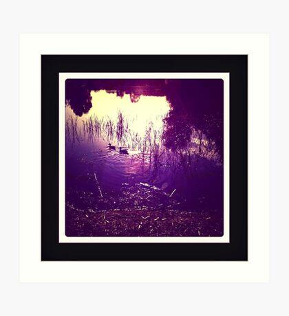 dusk lake Art Print