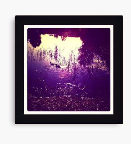 dusk lake Canvas Print