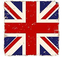 Vintage English Flag Photographic Print