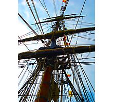 Vibrant Rigging Photographic Print