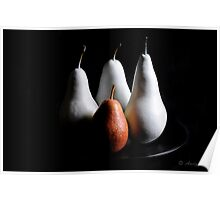 Pears on black Poster