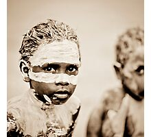 Two Aboriginal boys with painted face Photographic Print