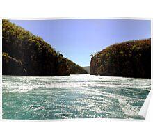 White Water, Horizontal Falls, West Australia Poster