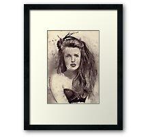 Craving (Belle) CharcoalOnPaper 29x22cm 2011 Framed Print