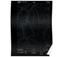 USGS Topo Map Oregon Moro 20110903 TM Inverted Poster