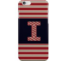 BROOKLINER BOSTON 1920s MONOGRAM alphabet letter initial  i iPhone Case/Skin