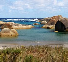 Rugged rocky shores of the Southern  Ocean by georgieboy98