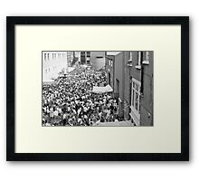 Italian street party, London Framed Print