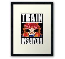 TRAIN INSAIYAN - Goku Super Saiyan God Framed Print