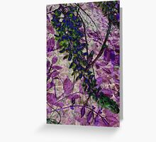 wisteria and glass... Greeting Card