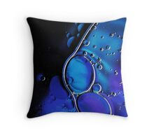 Bubbles abstract Throw Pillow