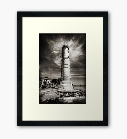 In the Shadow of the Lighthouse Framed Print