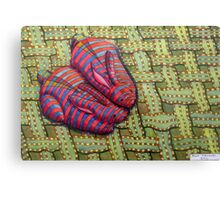 341 - CUDDLY BUNNIES - DAVE EDWARDS - COLOURED PENCILS & FINELINERS - 2011 Canvas Print