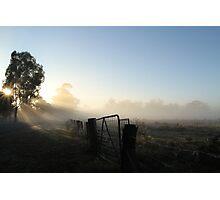 Burning off the Mist - Echuca Photographic Print