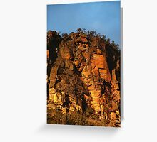 Cliffs above the Capertee Greeting Card