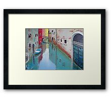 A narrow canal in Venice Framed Print