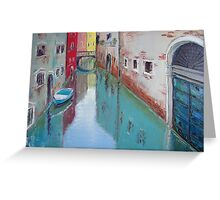 A narrow canal in Venice Greeting Card