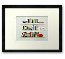 Bookshelf Framed Print