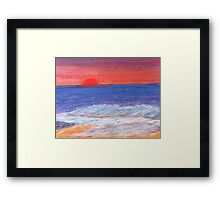 Beyond the Sunset and Sea. Framed Print