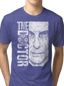 New Beginnings Number 12 - Doctor Who - Peter Capaldi Tri-blend T-Shirt