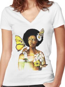Mother Nature VIII Women's Fitted V-Neck T-Shirt