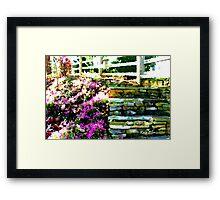 Step Into the Garden Framed Print