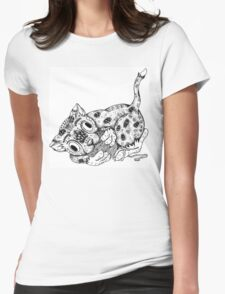 Cat and Yarn Womens Fitted T-Shirt