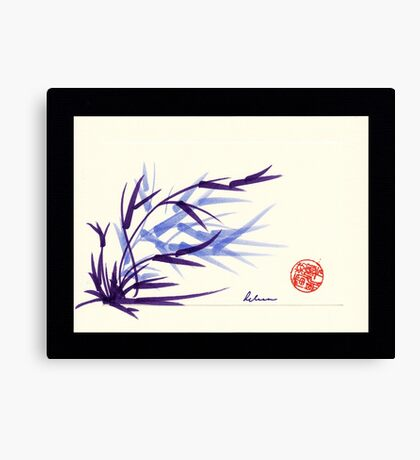 Huntington Gardens Plein Air Bamboo Drawing #2 Canvas Print