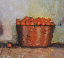 Oranges in basket by olivia-art