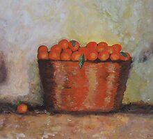 Oranges in basket by olivia-art