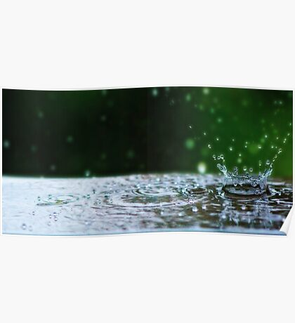 Kinetic Raindrops Poster