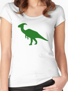 Parasaurolophus Dinosaur Women's Fitted Scoop T-Shirt