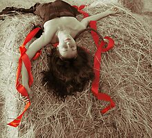 Portrait with Red tapes by VallaV
