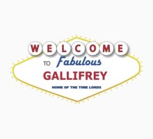 STICKER - DOCTOR WHO WELCOME TO GALLIFREY by thischarmingfan